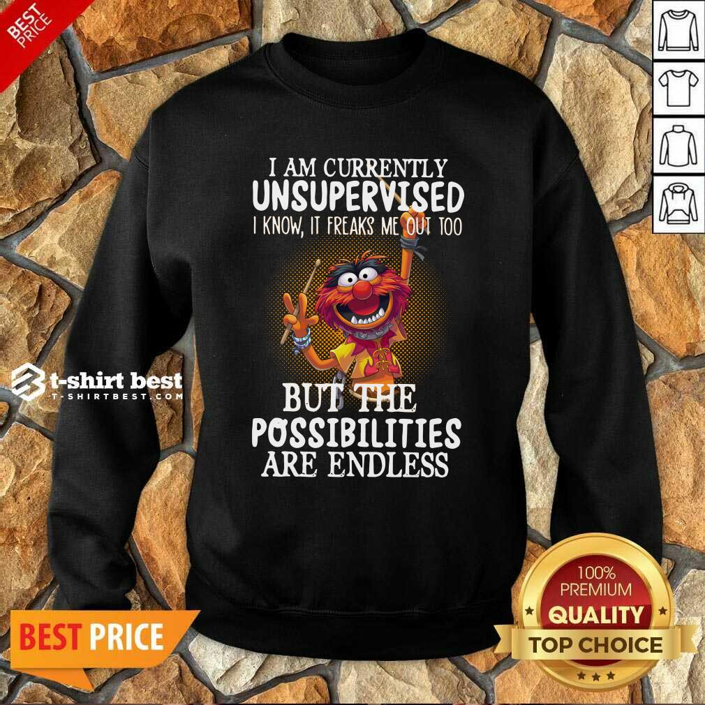 Muppets I Am Currently Unsupervised But The Possibilities Are Endless Sweatshirt - Design By 1tees.com