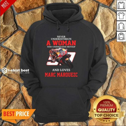 Never Underestimate A Woman Who Understand Motogp And Love Marc Marquez Hoodie - Design By 1tees.com