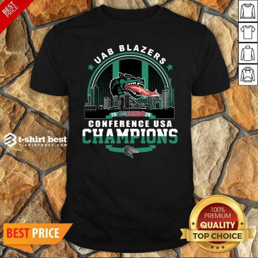 Uab Blazers C-USA 2020 Conference Usa Champions Shirt - Design By 1tees.com