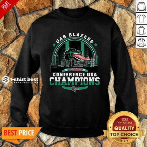 Uab Blazers C-USA 2020 Conference Usa Champions Sweatshirt - Design By 1tees.com