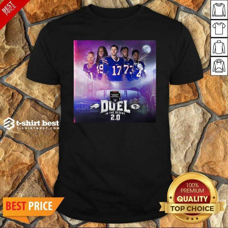 Buffalo Bills Monday Night Football Duel In The Desert 2.0 Shirt - Design By 1tees.com