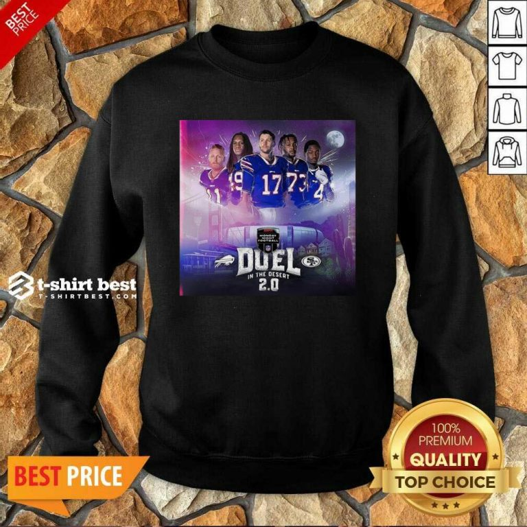 Buffalo Bills Monday Night Football Duel In The Desert 2.0 Sweatshirt - Design By 1tees.com