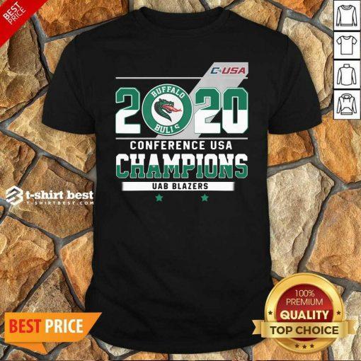 C-USA 2020 Buffalo Bulls Conference USA Champions UAB Blazers Shirt - Design By 1tees.com