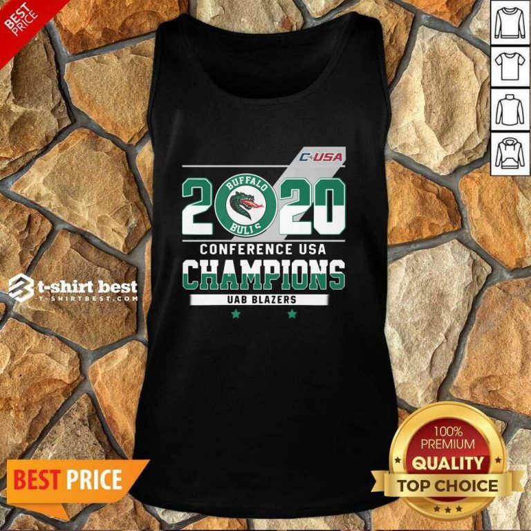 Hot C-USA 2020 Buffalo Bulls Conference USA Champions UAB Blazers Tank Top - Design By 1tees.com