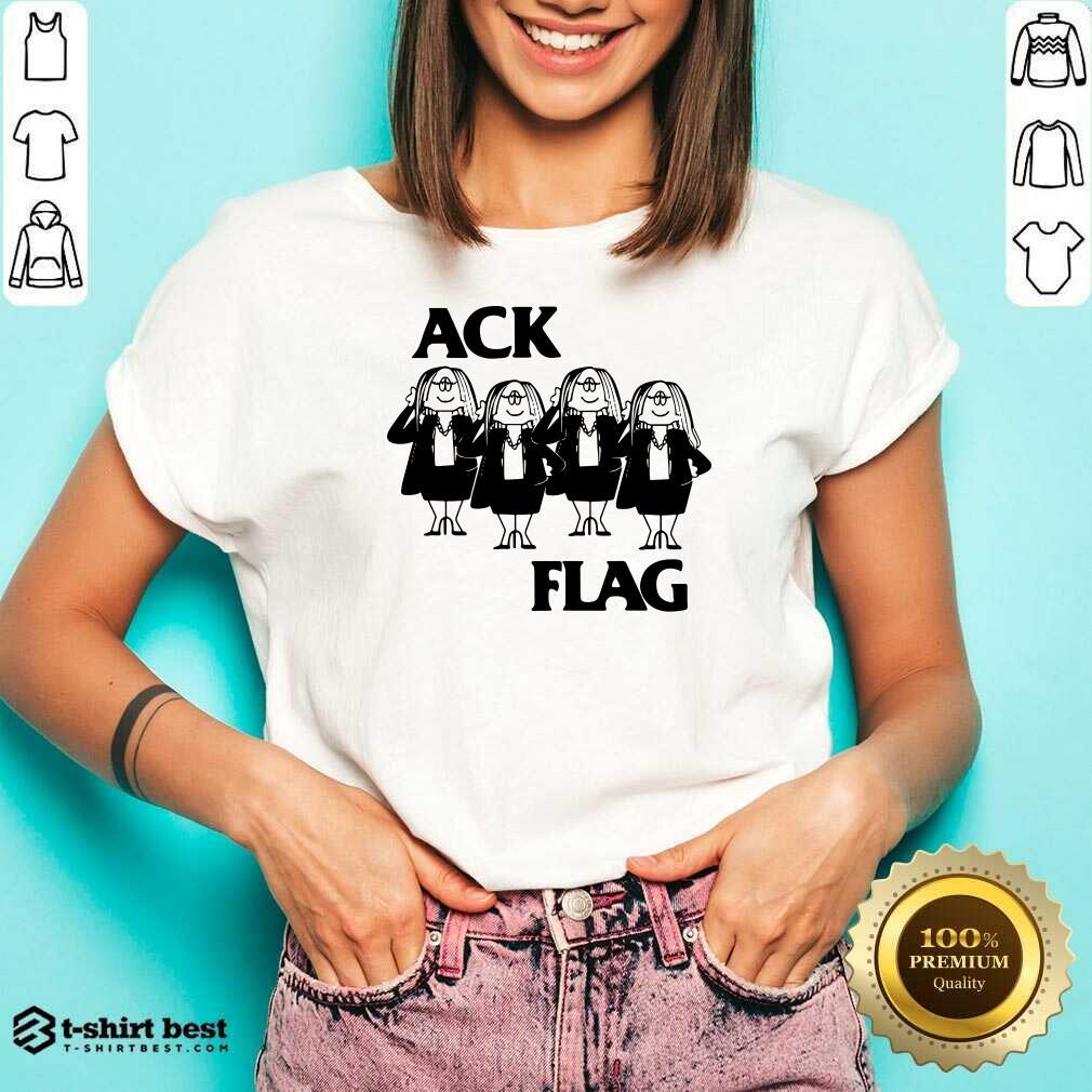 Cathy Ack Flag V-neck - Design By 1tees.com