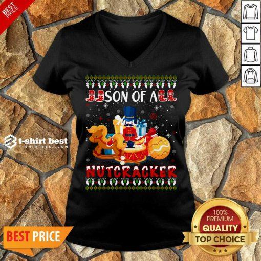 Cute Nutcracker Costume Xmas Ugly V-neck - Design By 1tees.com
