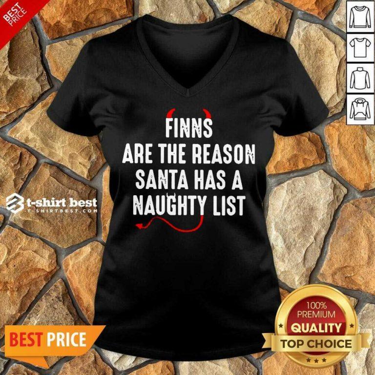 Finns Are The Reason Santa Has A Naughty List V-neck - Design By 1tees.com
