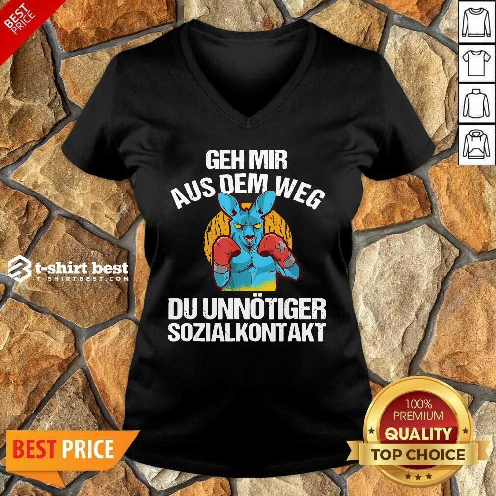 Geh Mir Aus Dem Weg Du Unnötiger Sozialkontakt Lustiges V-neck - Design By 1tees.com