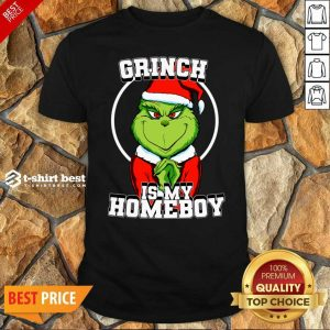 Hot Grinch Is My Homeboy Merry Christmas Shirt - Design By 1tees.com