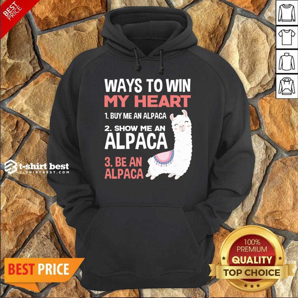 llama Alpaca Heart Love Animals Sweet Children Hoodie - Design By 1tees.com