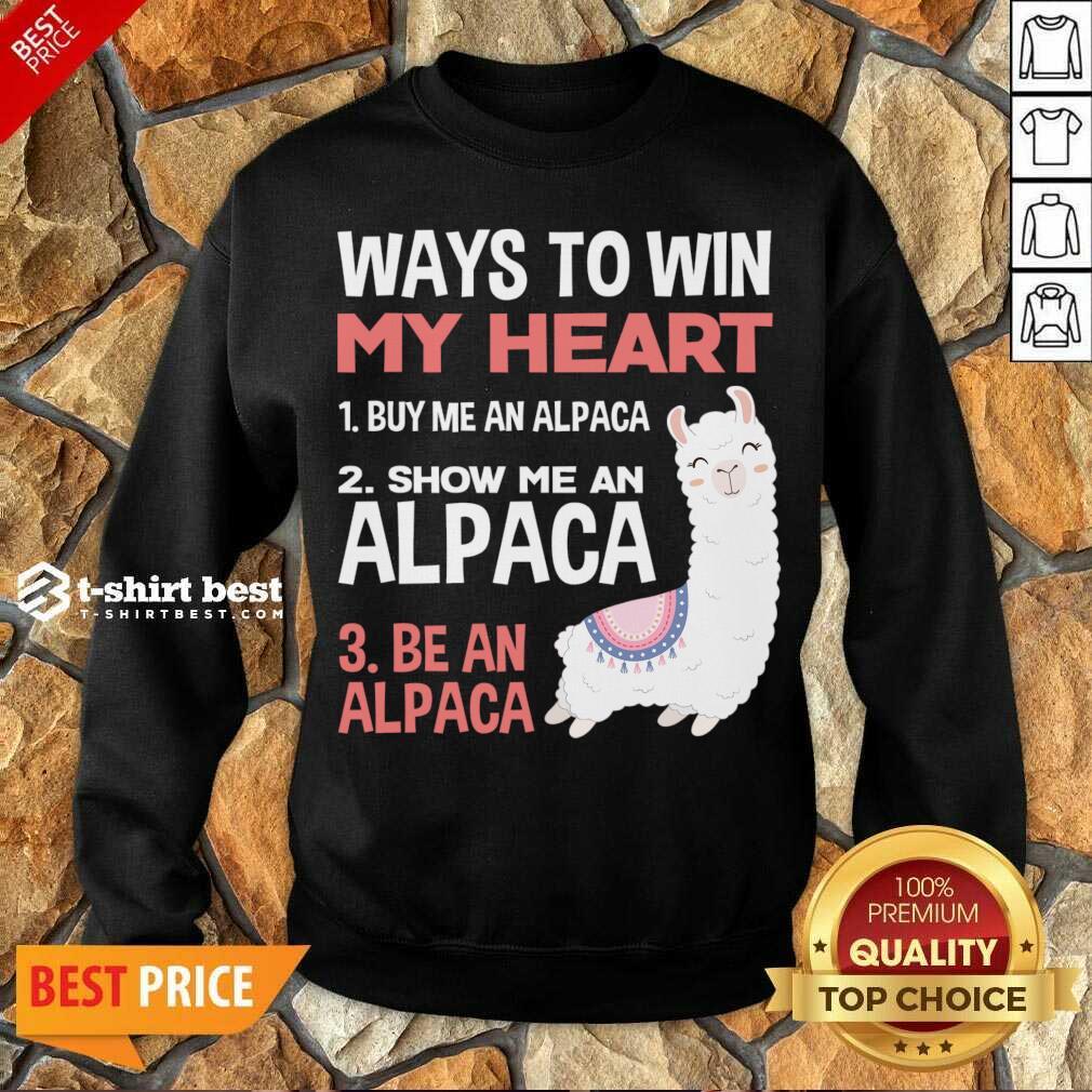 llama Alpaca Heart Love Animals Sweet Children Sweatshirt - Design By 1tees.com