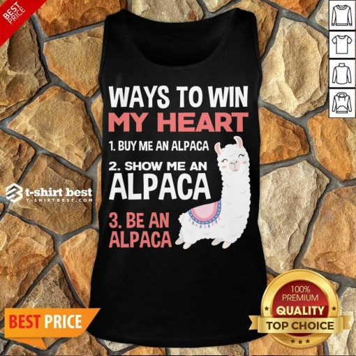 llama Alpaca Heart Love Animals Sweet Children Tank Top - Design By 1tees.com