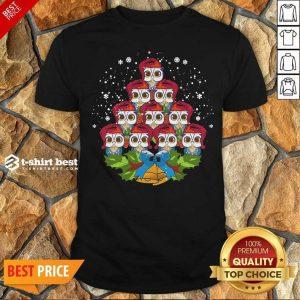 Hot Owls Merry Christmas Tree Animal Shirt - Design By 1tees.com