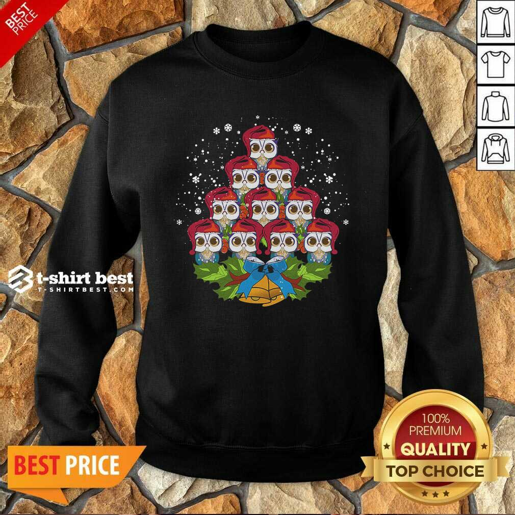 Owls Merry Christmas Tree Animal Sweatshirt - Design By 1tees.com