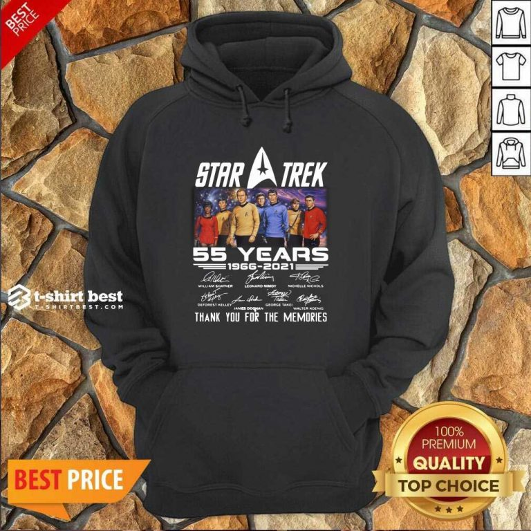 Star Trek 55 Years 1966 2021 Thank You For The Memories Signatures Hoodie - Design By 1tees.com