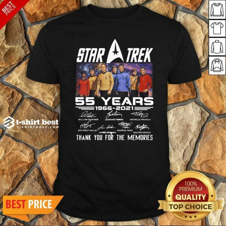 Star Trek 55 Years 1966 2021 Thank You For The Memories Signatures Shirt - Design By 1tees.com