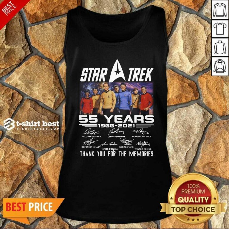 Star Trek 55 Years 1966 2021 Thank You For The Memories Signatures Tank Top - Design By 1tees.com