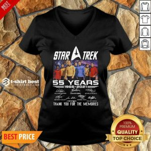 Star Trek 55 Years 1966 2021 Thank You For The Memories Signatures V-neck - Design By 1tees.com