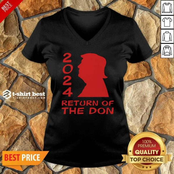 Trump 2024 Return Of The Don V-neck - Design By 1tees.com