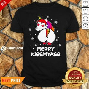 Hot Unicorn Merry Kissmyass Ugly Christmas Shirt - Design By 1tees.com