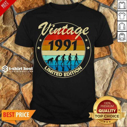 Hot Vintage 1991 Birthday Shirt - Design By 1tees.com