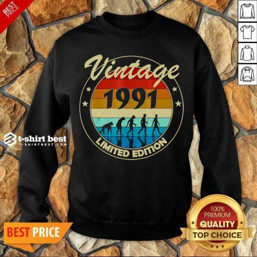 Vintage 1991 Birthday Sweatshirt - Design By 1tees.com
