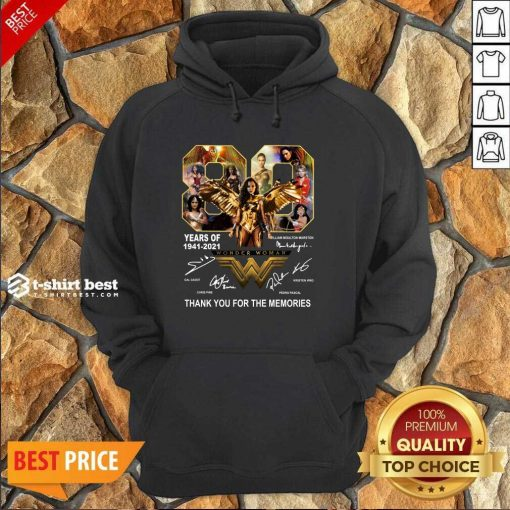 80 Years Of Wonder Woman Thank You For The Memories Hoodie - Design By 1tees.com