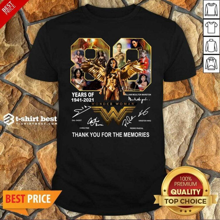 80 Years Of Wonder Woman Thank You For The Memories Shirt - Design By 1tees.com