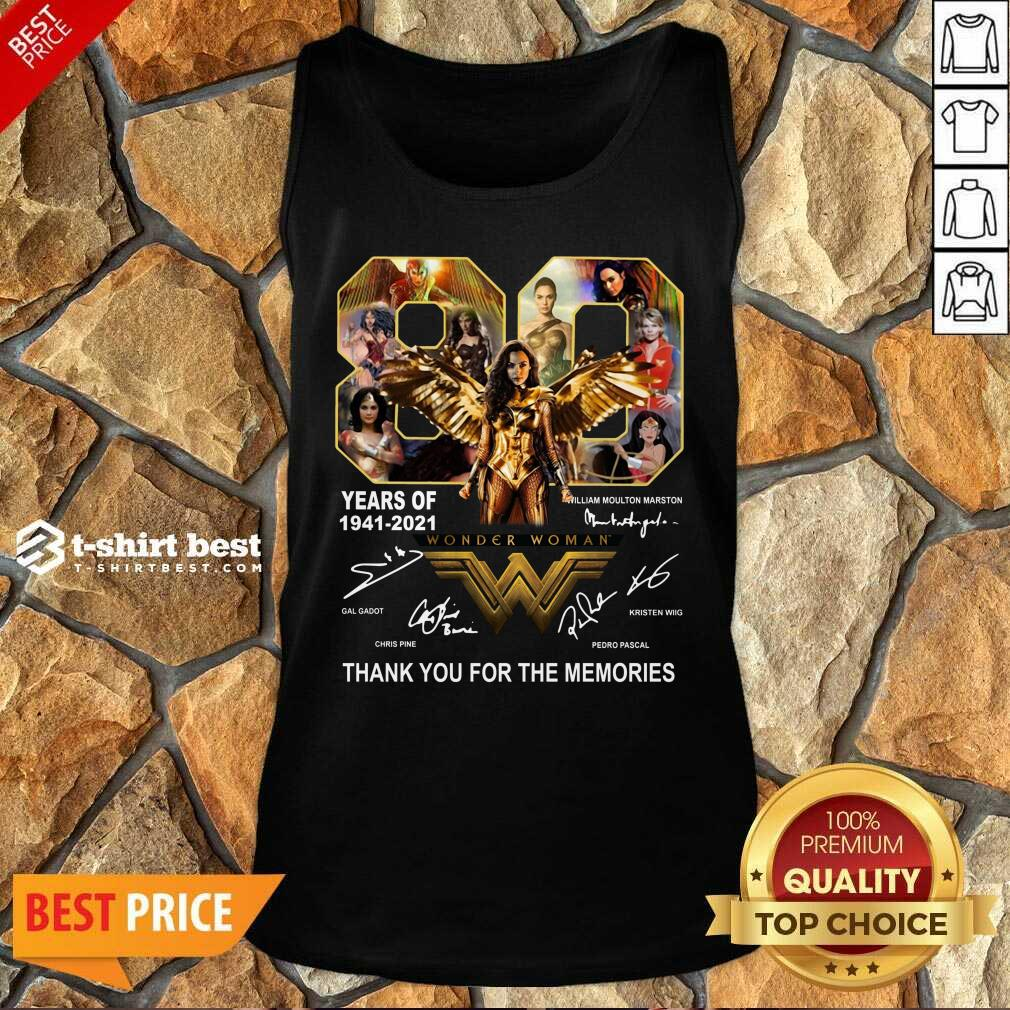 80 Years Of Wonder Woman Thank You For The Memories Tank Top - Design By 1tees.com