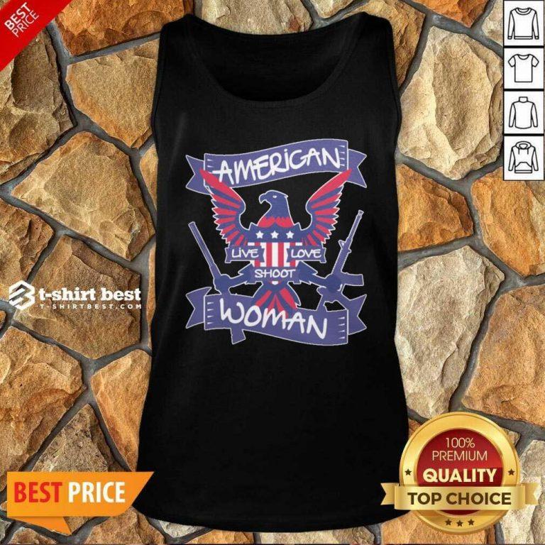 American Live Love Shoot Woman Tank Top - Design By 1tees.com