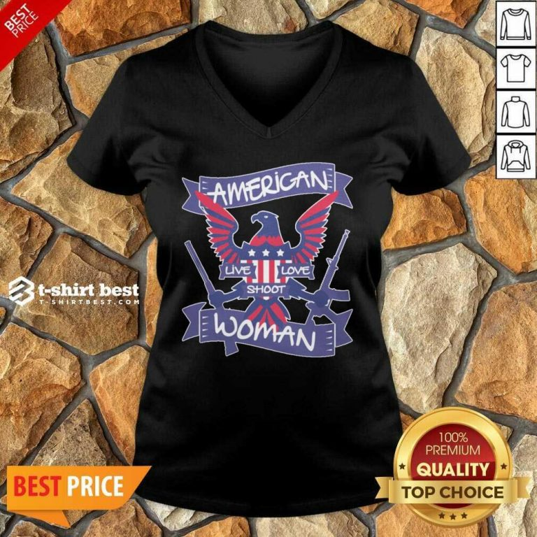 American Live Love Shoot Woman V-neck - Design By 1tees.com