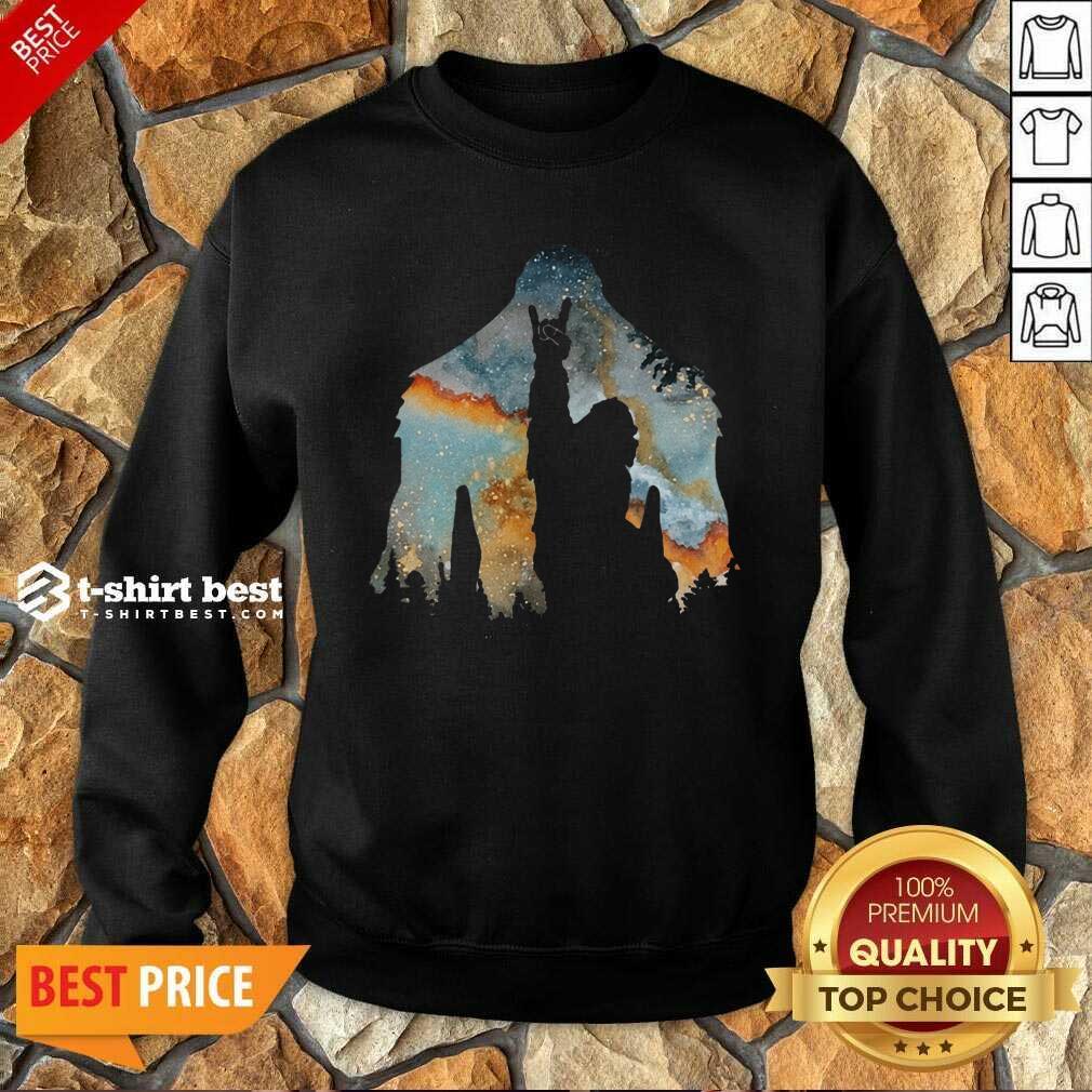 Bigfoot Rock And Roll Sweatshirt - Design By 1tees.com