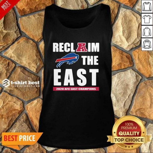 Buffalo Bills Reclaim The East 2020 AFC East Champions Tank Top - Design By 1tees.com