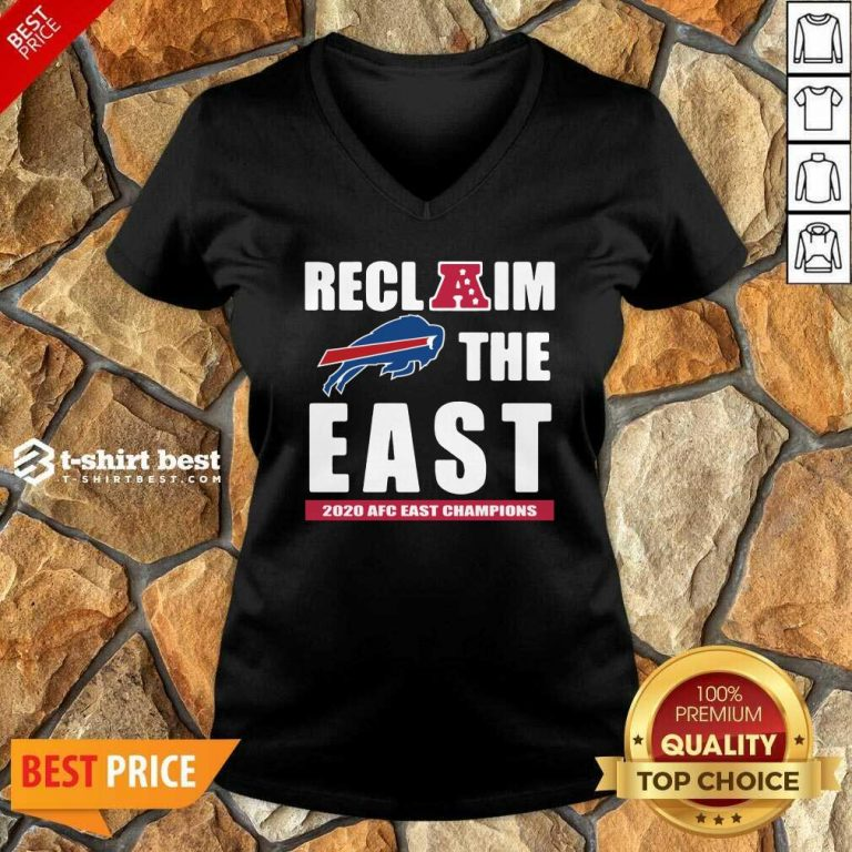 Buffalo Bills Reclaim The East 2020 AFC East Champions V-neck - Design By 1tees.com