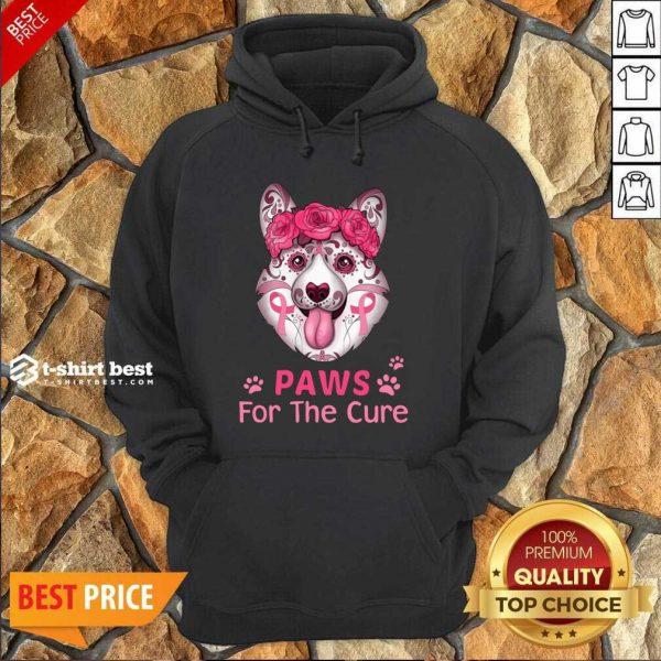 Corgi Sugar Paws For The Cure Hoodie - Design By 1tees.com