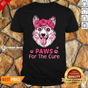 Corgi Sugar Paws For The Cure Shirt - Design By 1tees.com