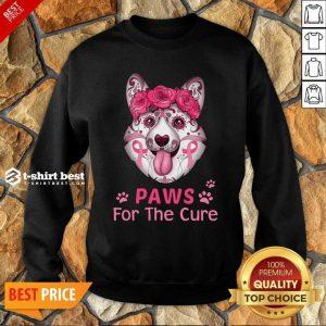 Corgi Sugar Paws For The Cure Sweatshirt - Design By 1tees.com