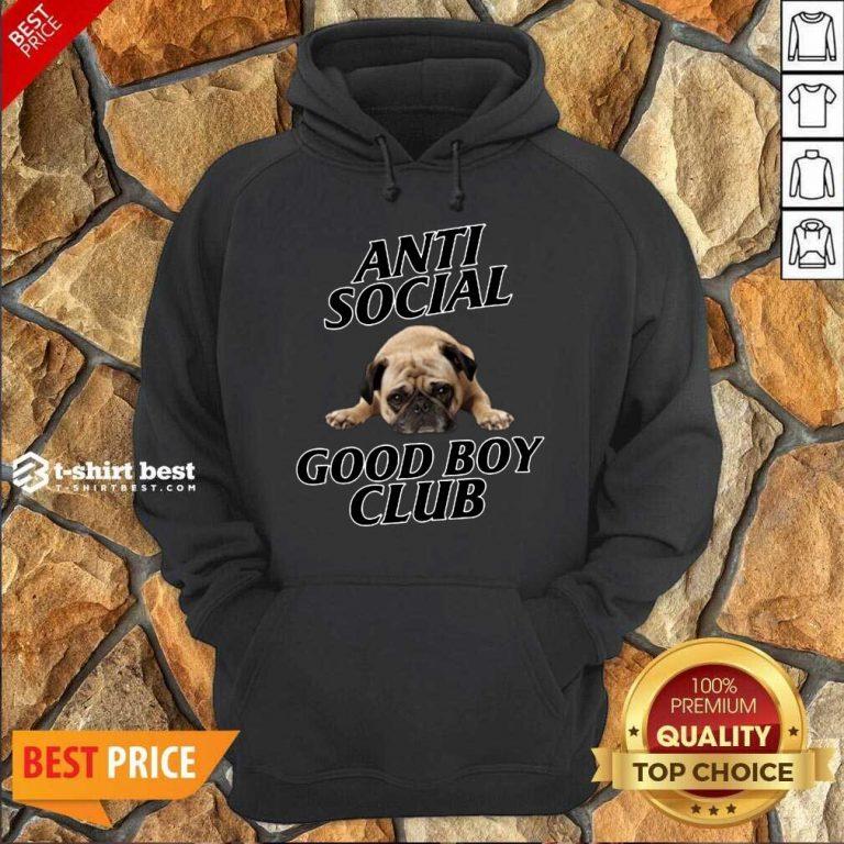Dog Anti Social Good Boy Club Sweatshirt - Design By 1tees.com