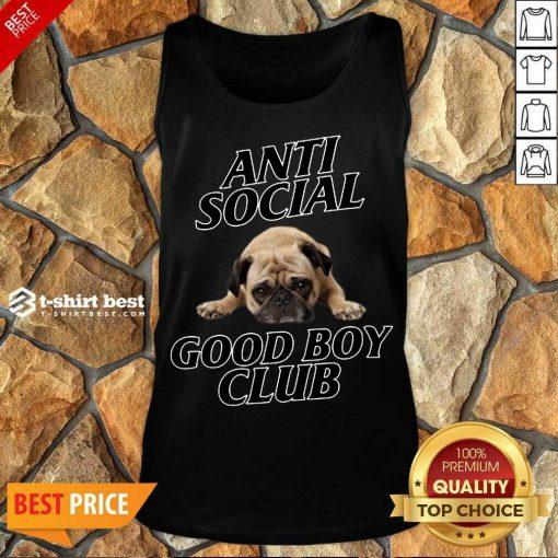 Dog Anti Social Good Boy Club Tank Top - Design By 1tees.com