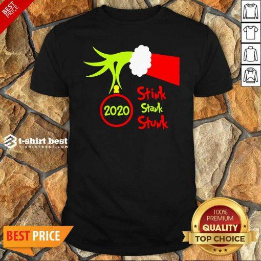 Nice Grinch Hand Holding 2020 Stink Stank Stunk Shirt - Design By 1tees.com