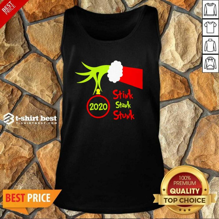 Grinch Hand Holding 2020 Stink Stank Stunk Tank Top - Design By 1tees.com