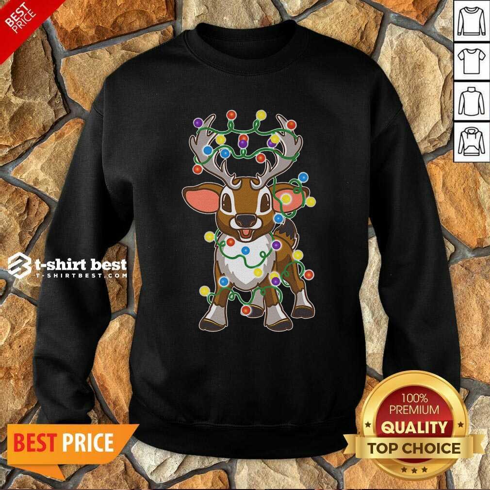 Reindeer Light Merry Christmas Sweatshirt - Design By 1tees.com