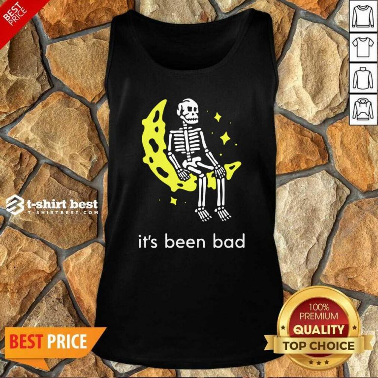 Skeleton Its Been Bad V-neck - Design By 1tees.com