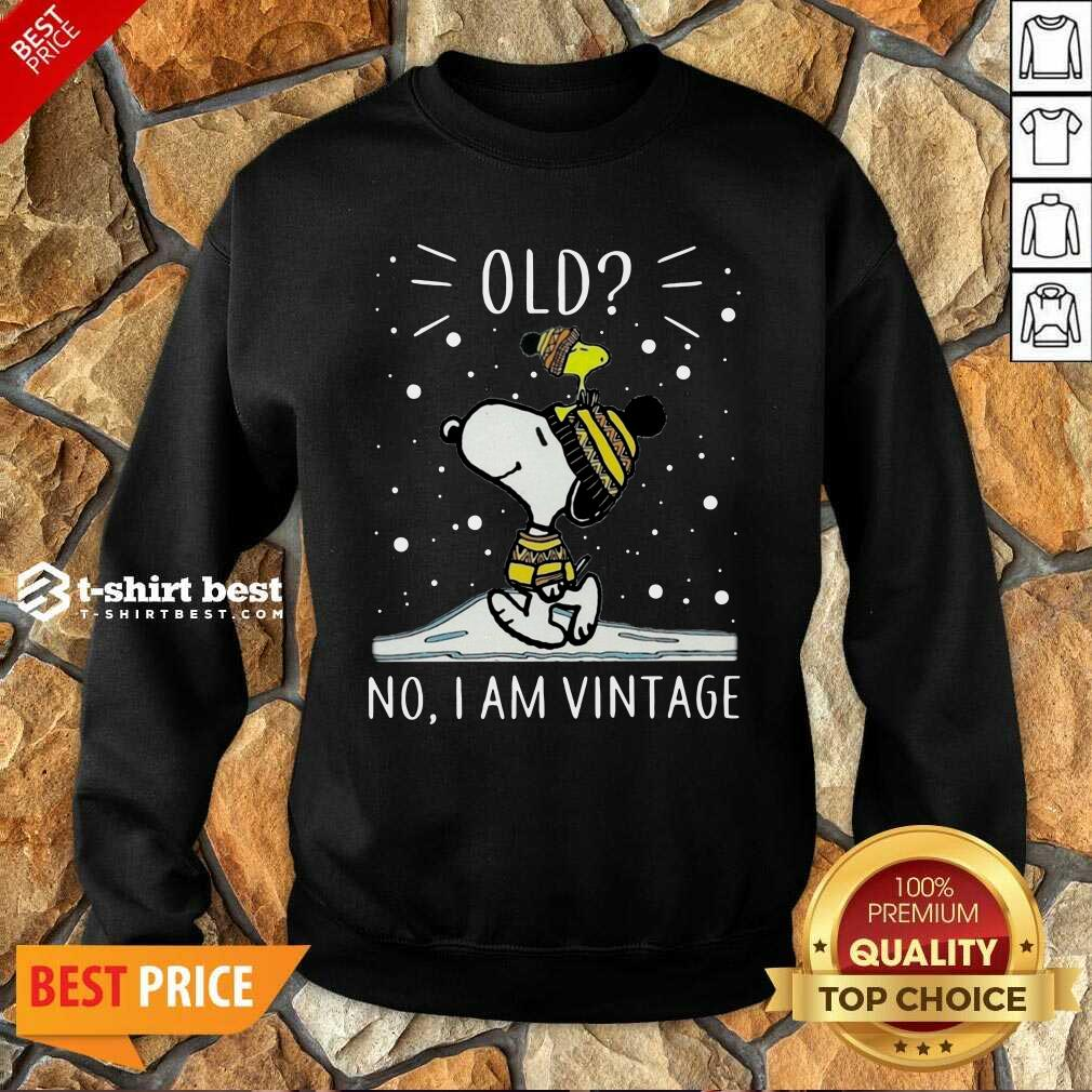 Snoopy And Woodstock Old No I Am Vintage Sweatshirt - Design By 1tees.com