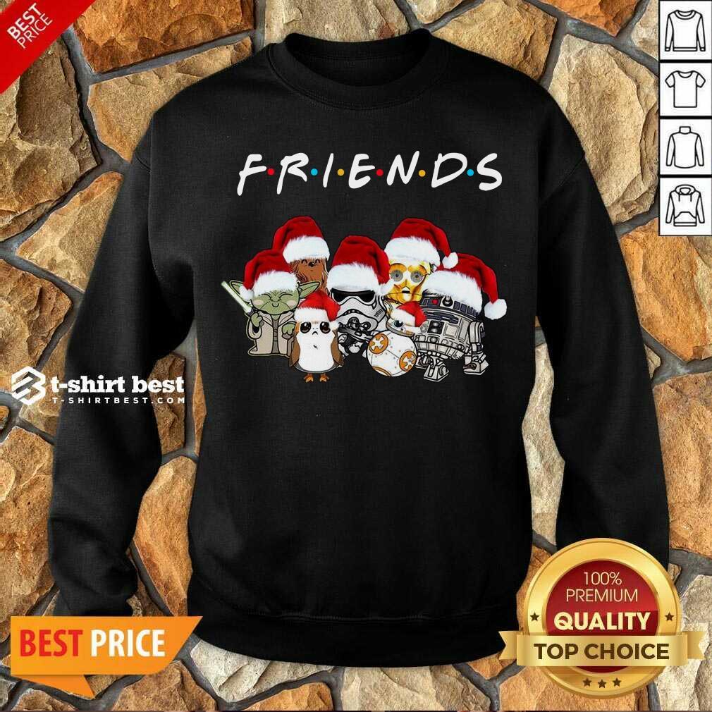 Nice Star Wars Darth Vader Baby Yoda And Friends Christmas Long Sleeve Sweatshirt - Design By 1tees.com