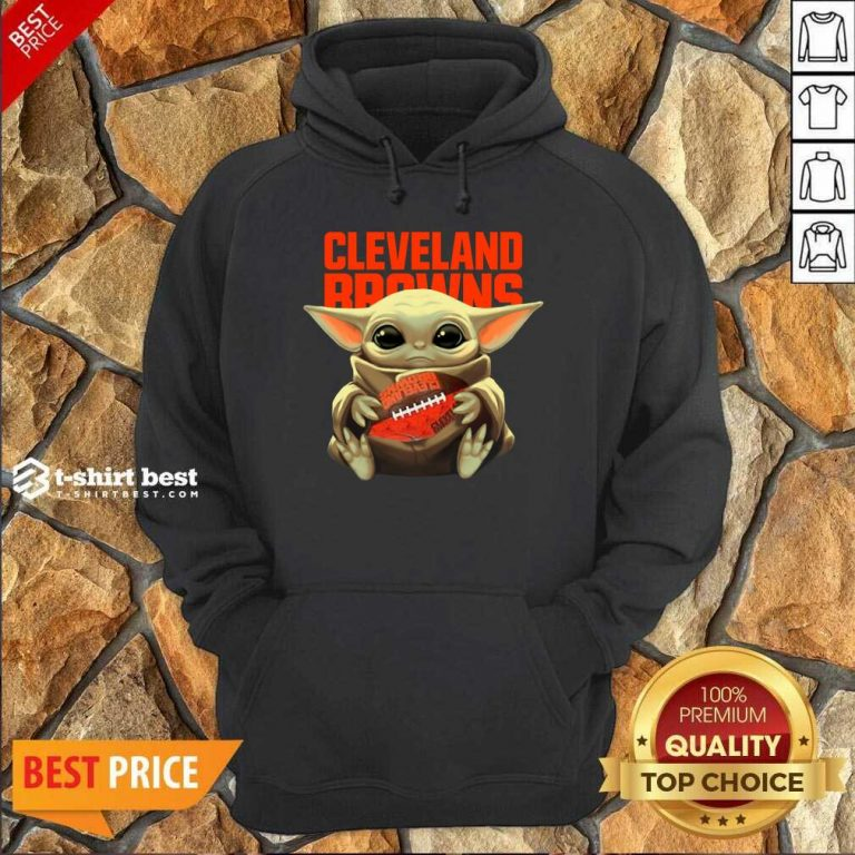 Baby Yoda Hug Rugby Cleveland Browns Hoodie - Design By 1tees.com