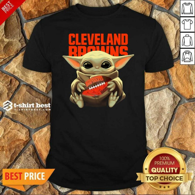 Official Baby Yoda Hug Rugby Cleveland Browns Shirt - Design By 1tees.com