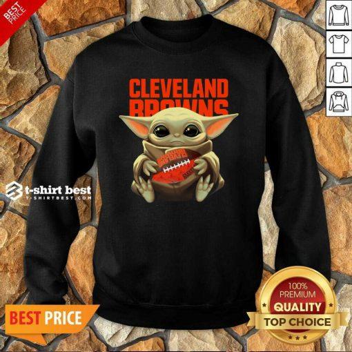 Baby Yoda Hug Rugby Cleveland Browns Sweatshirt - Design By 1tees.com