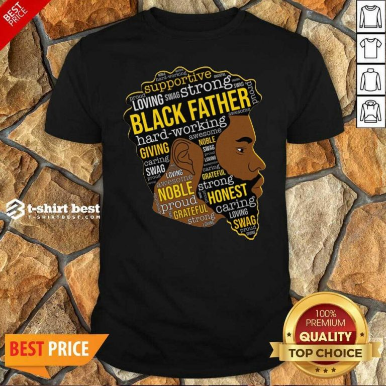 Black Father Giving Working Shirt - Design By 1tees.com