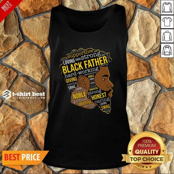 Black Father Giving Working Tank Top - Design By 1tees.com